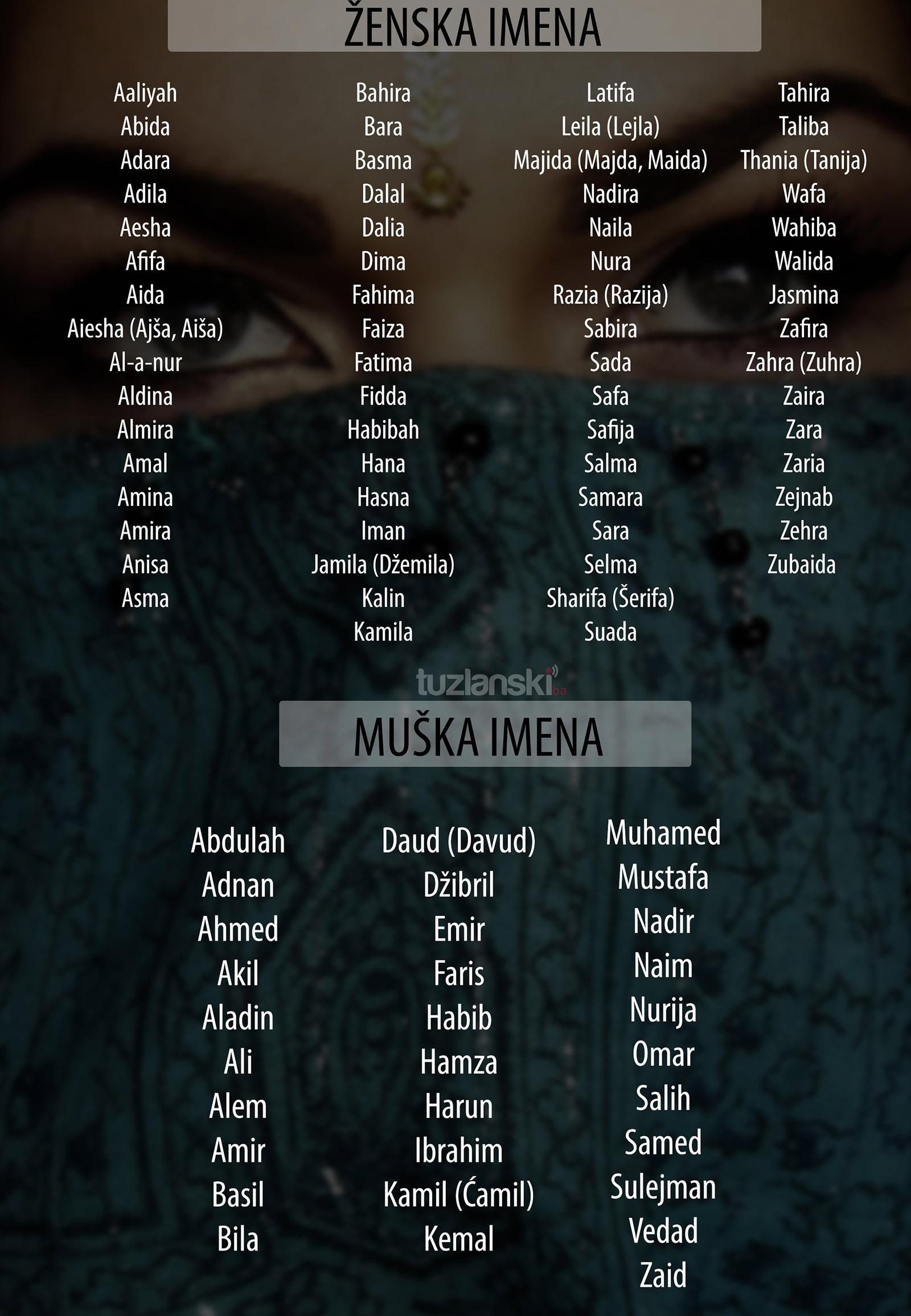 Ženska imena muslimanska