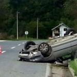 S.S. iz Seljublja izgubio kontrolu nad vozilom i završio na krovu