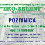 """""""Eko-zeleni"""" organizuje """"Dani kulturne i prirodne baštine općine Kalesija"""""""