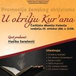 U nedjelju u Čaršijskoj džamiji Kalesija gost predavač Hasiba Saračević