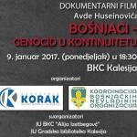 Poziv Kalesijcima na obilježavanje 9. januara – Dana genocida nad Bošnjacima