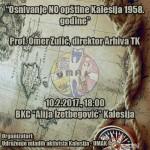 """Sutra predavanje """"Osnivanje NO opštine Kalesija 1958. godine"""""""