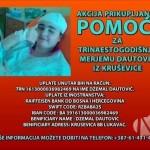Akcija prikupljanja pomoći za teško oboljelu Merjemu Dautović