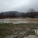 FOTO: Spreča preplavila mostove, potopila poljoprivredno zemljište