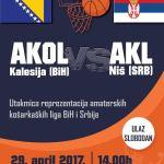 Veliki sportski događaj u Kalesiji: Utakmica reprezentacija amaterskih košarkaških liga BiH i Srbije, AKOL (Kalesija) – AKL (Niš)