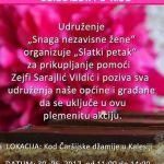 """Akcija """"Slatki petak"""" za Zejfu Sarajlić – Vildić"""