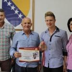 Općinski načelnik upriličio prijem za reprezentativca BiH Husu Turića i njegovog trenera