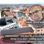 Večeras predavanje prof. Šefika Kurdića u Čaršijskoj džamiji