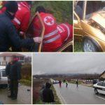 FOTO/ U saobraćajnoj nezgodi na putu G.Kalesija – Sapna učestvovala tri automobila, povrijeđeno više osoba